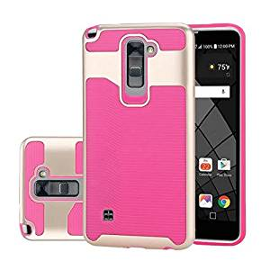 LG Stylus 2 Plus Case ,LG Stylus 2 Case ,LG Stylo 2 Case, Topratesell Hybrid Dual Layer Armor Defender Protective Case Cover for LG Stylus 2 Plus/Stylus 2/G Stylo 2/LS775 (2016 Release) (Hot Pink)