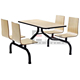 Hot Sale Dining Hall Furniture Restaurant Table and Chair For School Canteen