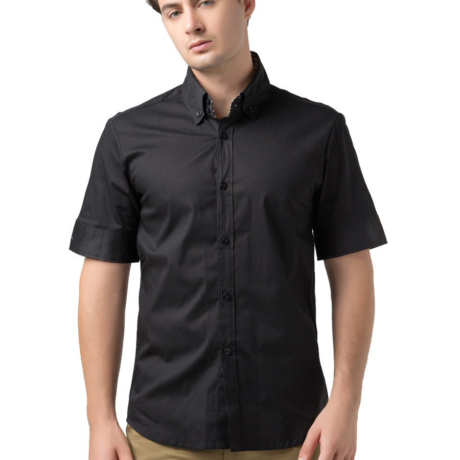 Men's Short Sleeve Dress Shirts. invalid category id. Men's Short Sleeve Dress Shirts. Showing 3 of 3 results that match your query. Search Product Result. Product - Andrew Fezza Men's Slim Fit Long Sleeve Solid Cotton Dress Shirt - Light Blue - Product Image. Product Title.