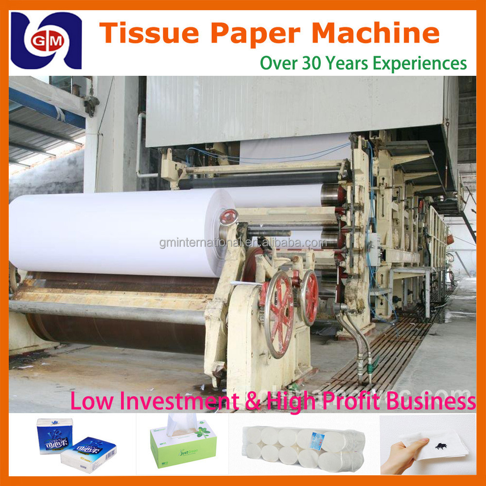 small paper products manufacturing machine 787mm 1tpd small toilet tissue paper roll paper making machine plant