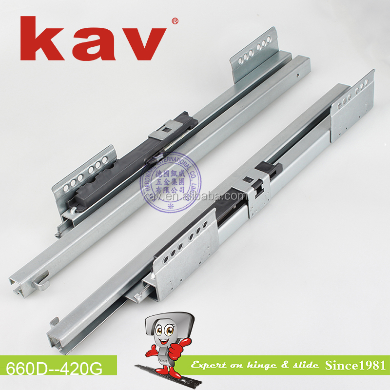 wholesale bottom fixed drawer runners double wall drawer slide Guangdong box sliders supplier (660D)