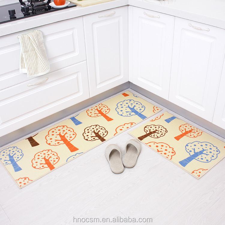 Lantai Dapur Tikar Panjang Karpet R Tidur Samping Tempat Penyerap Keset Untuk