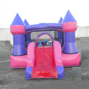 Mini cheap Inflatable Bouncers Include Air Blower Kids Playground Inflatable Boncy Slides children castle E2127
