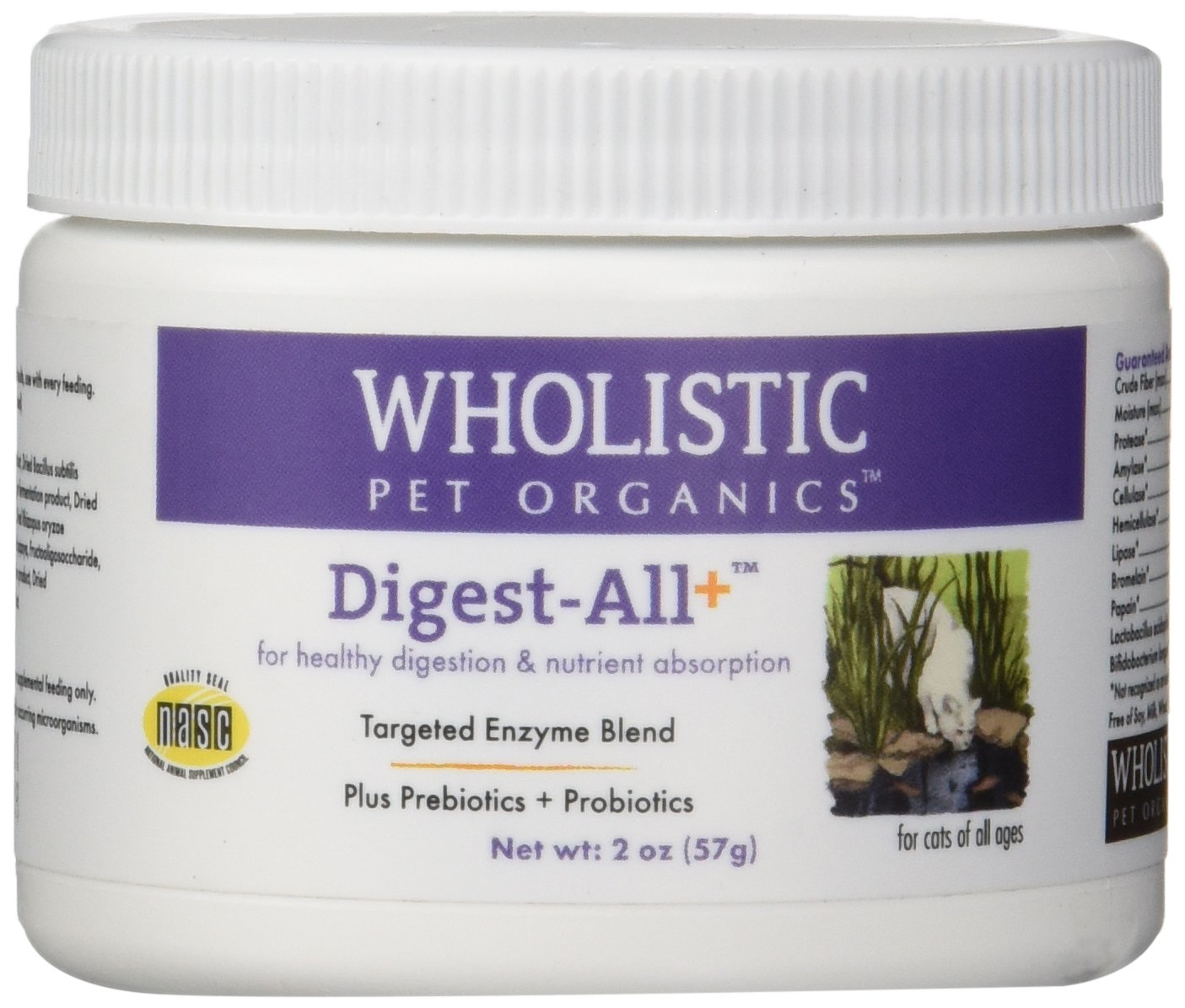 Wholistic Pet Organics Feline Digest-All Plus Supplement