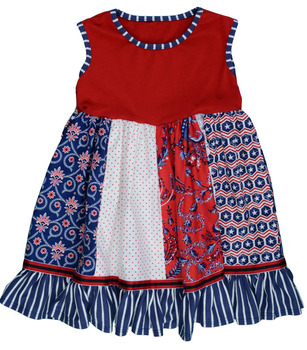 Baby Girls Remake Patchwork Outfits Toddler Sleeveless Floral Ruffle Cotton  Flower Girl Dresses Boutique Kids Pretty db56853b703a