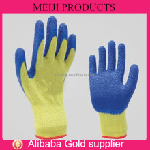 natural rubber palm coated hand gloves working safety cotton lined gloves