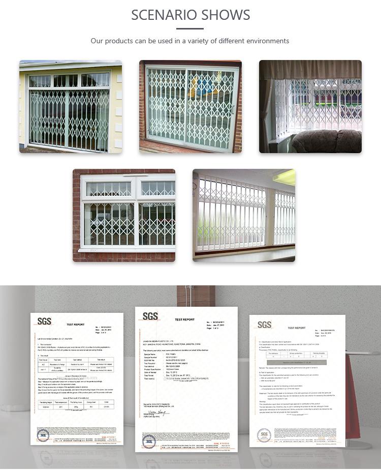Metal decorative window grill design for sliding windows