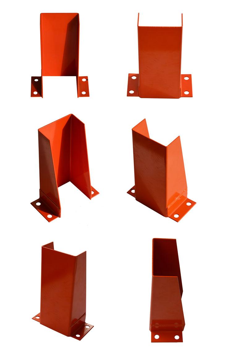 Heavy duty warehouse rack pallet corner upright protector