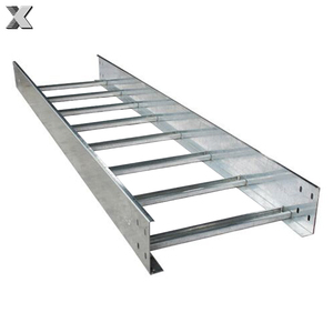Stainless steel ladder cable tray, HDG cable ladder support system