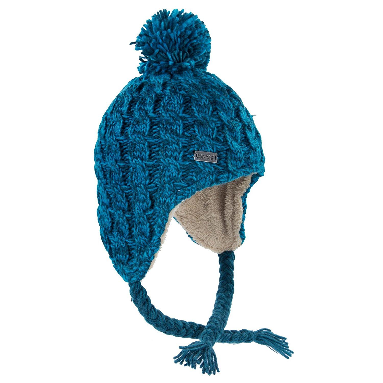 d40376d4e38 Get Quotations · Regatta womens Regatta Womens Ladies Whirlwind Fleece Lined  Knit Winter Bobble Hat