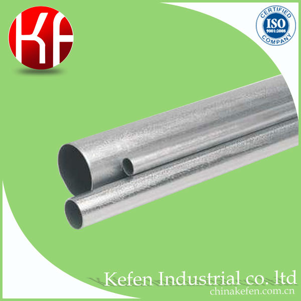 UL 797/ANSI C80.3 galvanized electrical cable EMT conduit pipe in 4 inch specification