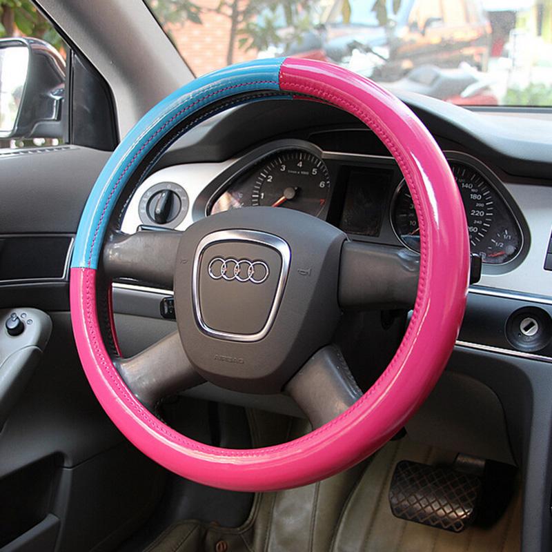 2016 высокое качество женщин новый генеральный дышать искусственная кожа свободно рулевое 38 см обложка автомобиль