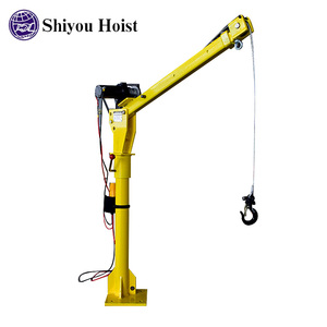 Small Pickup Electric Truck Crane With Cable Winch