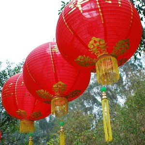 Hanging festival fabric red lantern traditional