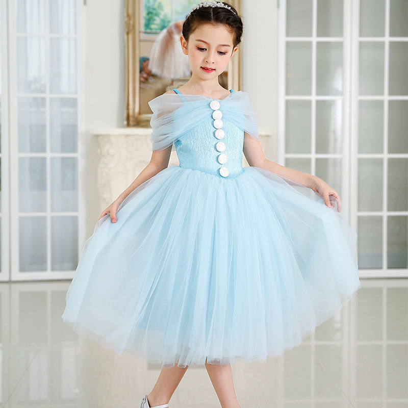 Girl Party Wear Western Dress Sling Strapless Party Dress For 2 12 Years Old Girls Buy Kids Party Wear Dresses For Girlsparty Dresses For Fat