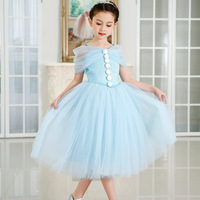 girl party wear western dress sling strapless party dress for 2-12 years old girls