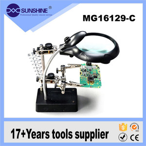 MG16129-C 3 in 1soldering use magnifying glass x2.5 x7.5 x10