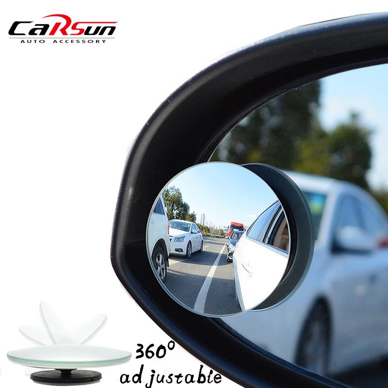 2 шт./лот 2016 новый горячий автомобиль слепое пятно зеркало 360 град. регулируемый безопасность выпуклое зеркало для всех универсальных автомобилей подходит
