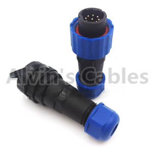 SD16 weatherproof male plug female socket 9 pin LED IP68 waterproof Cable Wire Aviation Contact Connector