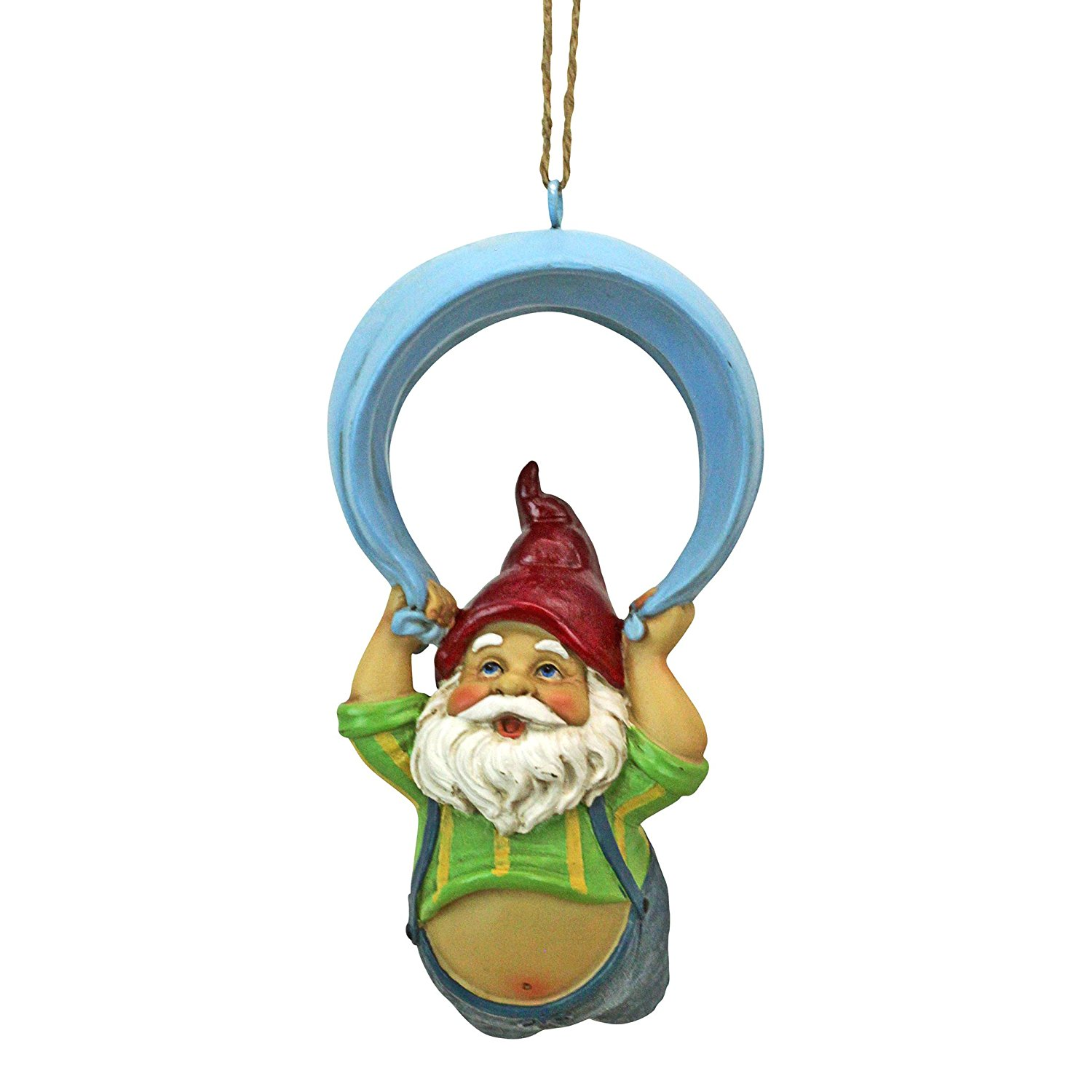 Design Toscano QL30697 Paavo and his Parachute Adrenaline Junkie Hanging Garden Statue Gnome, One Size, Multi-Color
