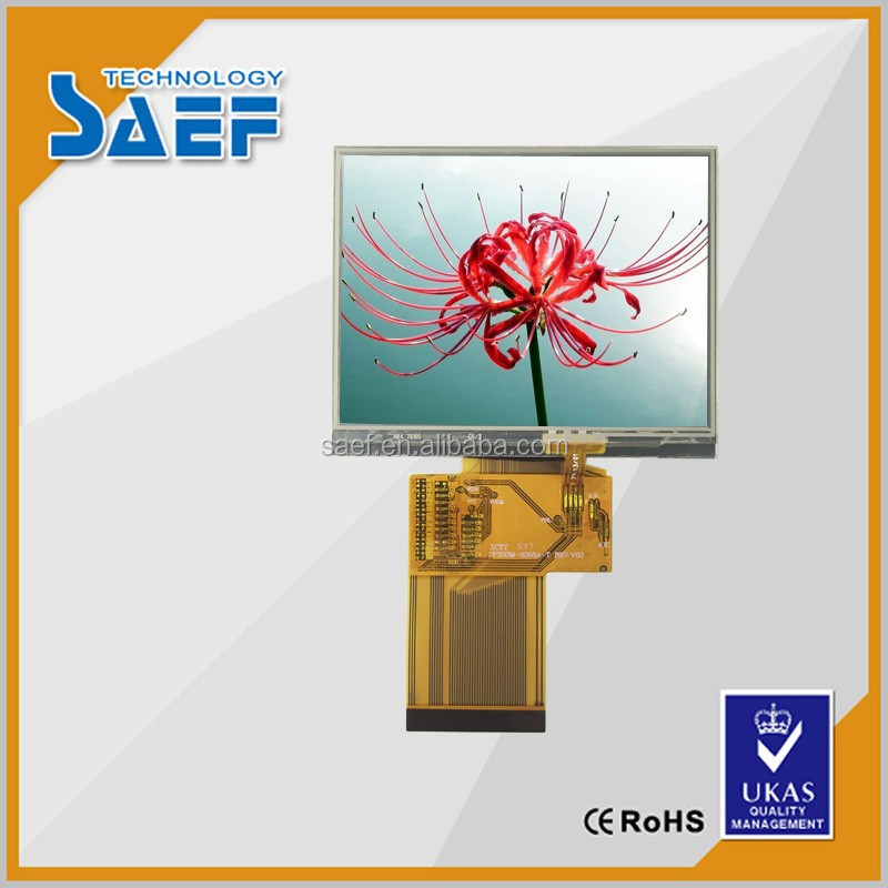 3.5 inch TFT LCD touch panel with 320X240 RGB interface 6 O'clock direction