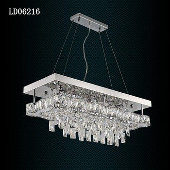 Led Square Chandelier Lighting Modern Crystal Chandelier