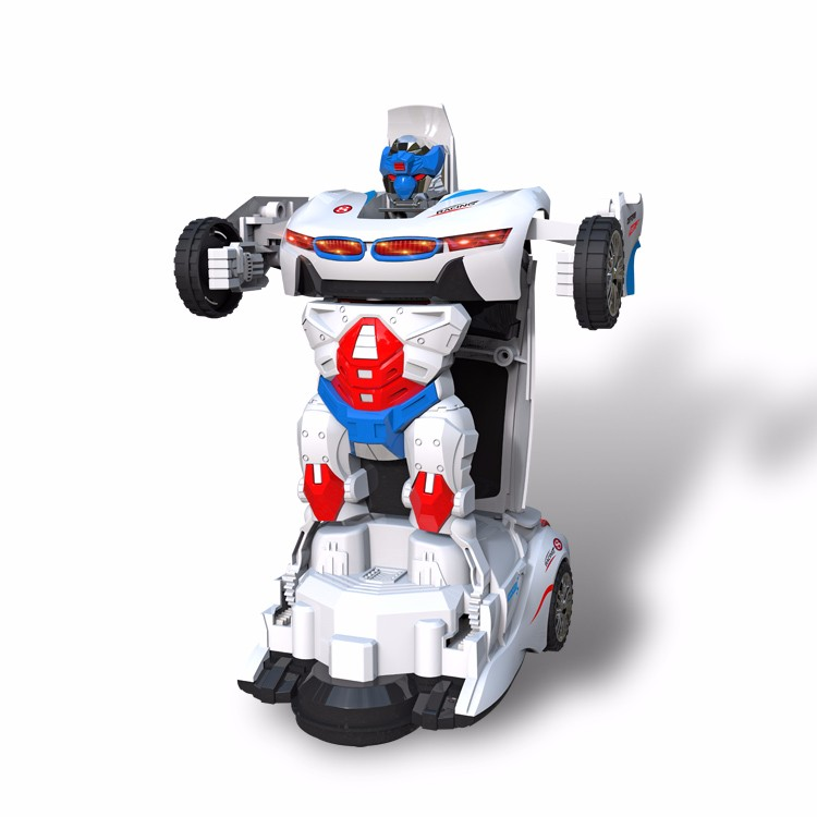 Music robot electric car toys for children