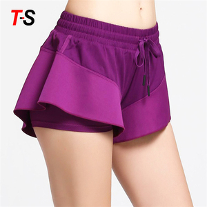 Various Styles Sport Stretch Color Block Women Mini Yoga Shorts