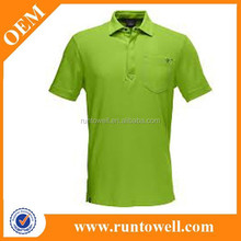 customed polyester cotton polo shirt for men