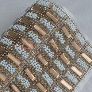 Factory wholesale iron on glass stone adhesive hotfix diamond crystal mesh sticker rhinestone sheet trim