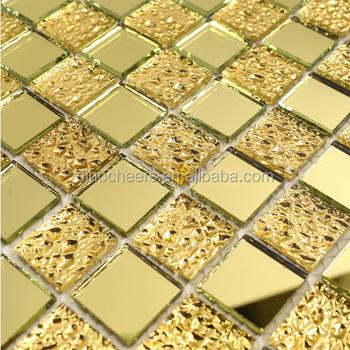 Die Schöne Gold Kristall Withgold Folie Spiegel Fliesen Mosaik Für Wand  Deco Badezimmer Fliesen