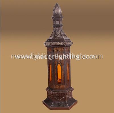 Traditional Moroccan Brass Floor Lamp