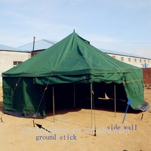 High quality 5+ persons waterproof military canvas tents