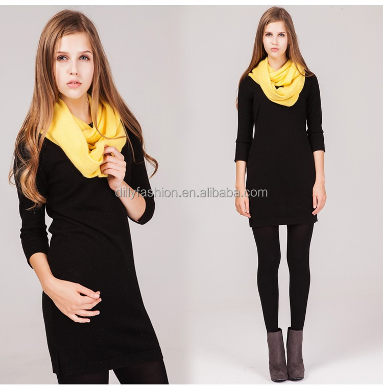 Wholesale cashmere knit infinity scarf for sexy young girl