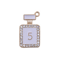 200 White Enameled Zinc Alloy Charms figure 5 trendy jewelry handmade charms for bracelet necklace