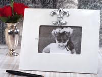 Silver Fleur De Lis Signature Frame