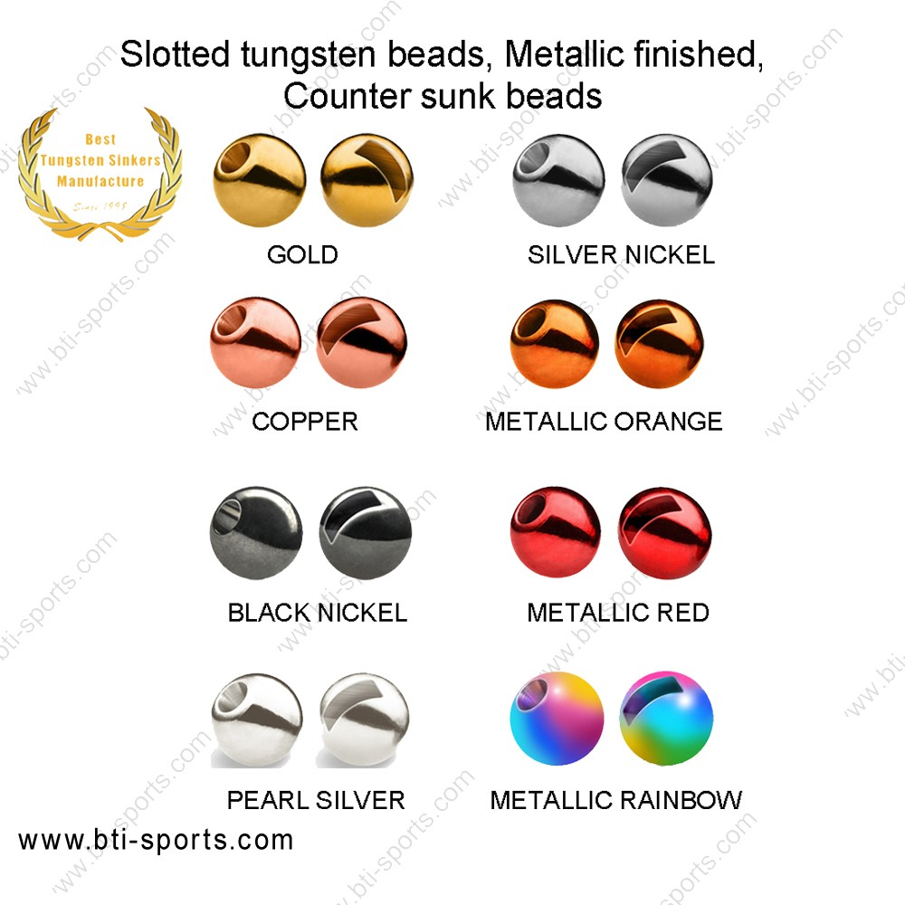 1000 Rainbow Tungsten Fly Tying Beads Assorted Sizes A Angelsport-Fliegen-Bindematerialien Angelsport-Artikel