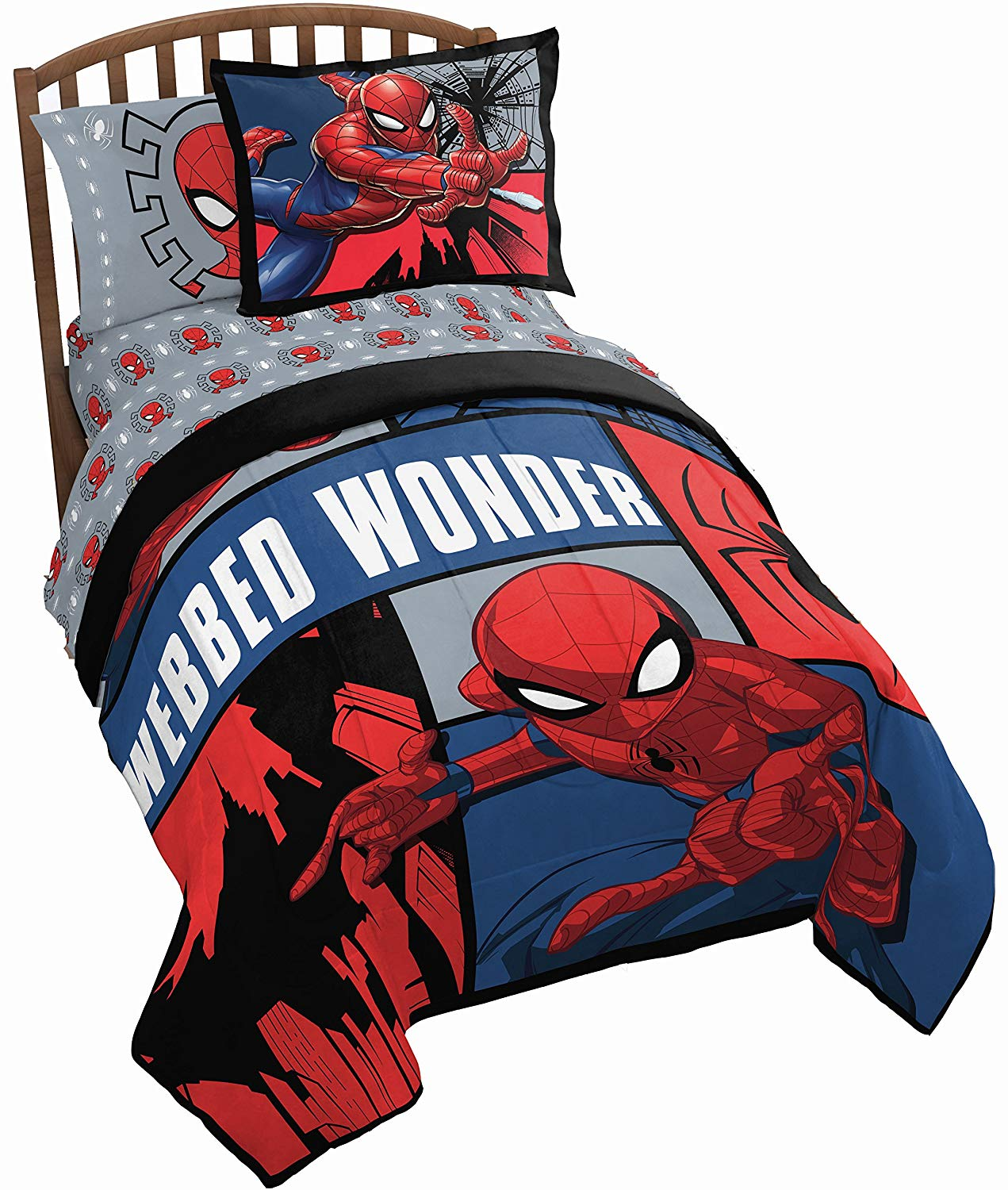 Buy Marvel Spiderman 4 Piece Complete Twin Bed In A Bag