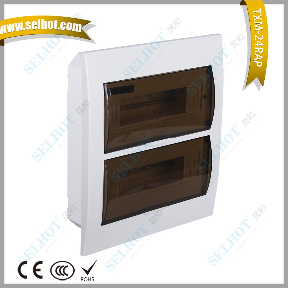 High Quality German Socket Electrical Board Power Breaker Box 300*344*98mm electrical 24 ways Distribution Box