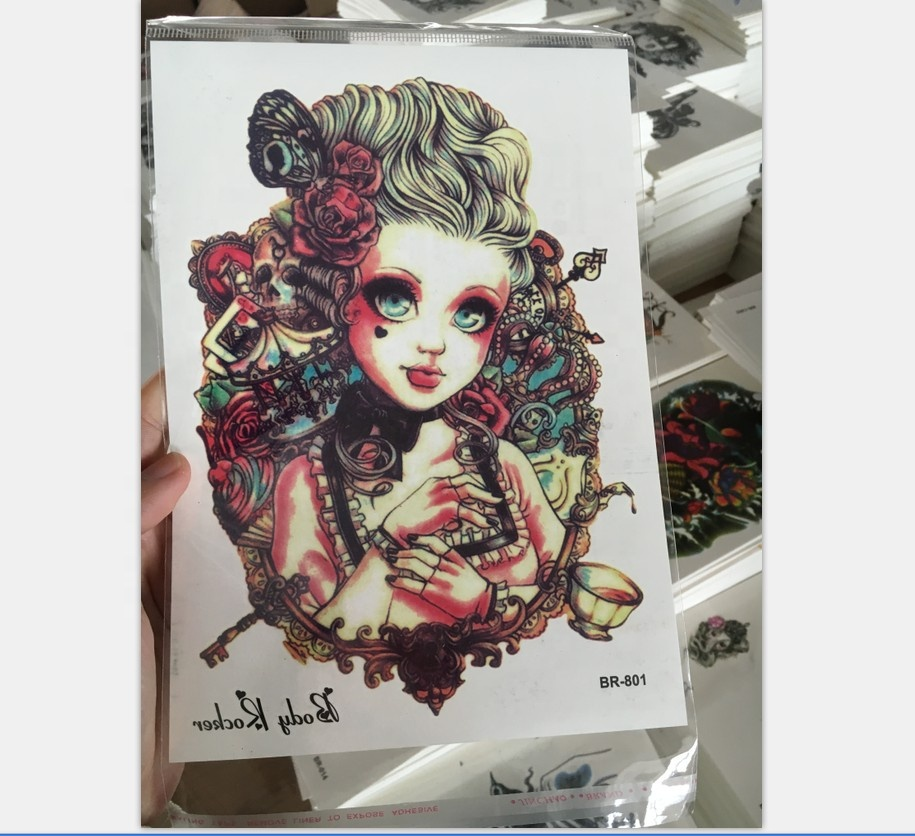 Cosmetic Grade New Design High Quality Large Image for Full Arm Temporary Tattoo