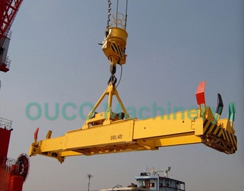 OUCO Lifting equipment telescopic 20ft and 40ft boom hydraulic container spreader