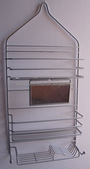 Hanging Bathroom Shampoo/Towel Rack, Stainless Steel Triple Tier Shower  Caddy And Fog Mirror