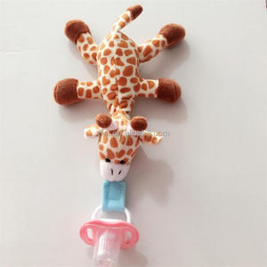 Hot Sell Plush Baby Giraffe Pacifier Custom Animal Pacifier