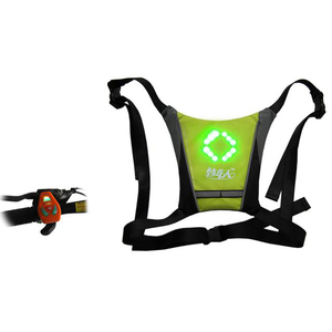 wireless control LED light Cycling Safety Reflective Running Vest