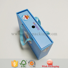 Cartoon design single layer corrugated flute carrying box paper packaging carton for kids gift