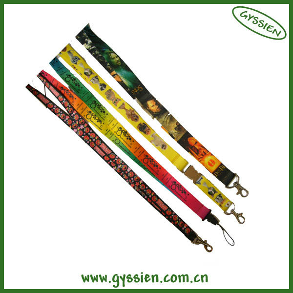 N05 wholesale silk screen promotion customize lanyard with custom accesory