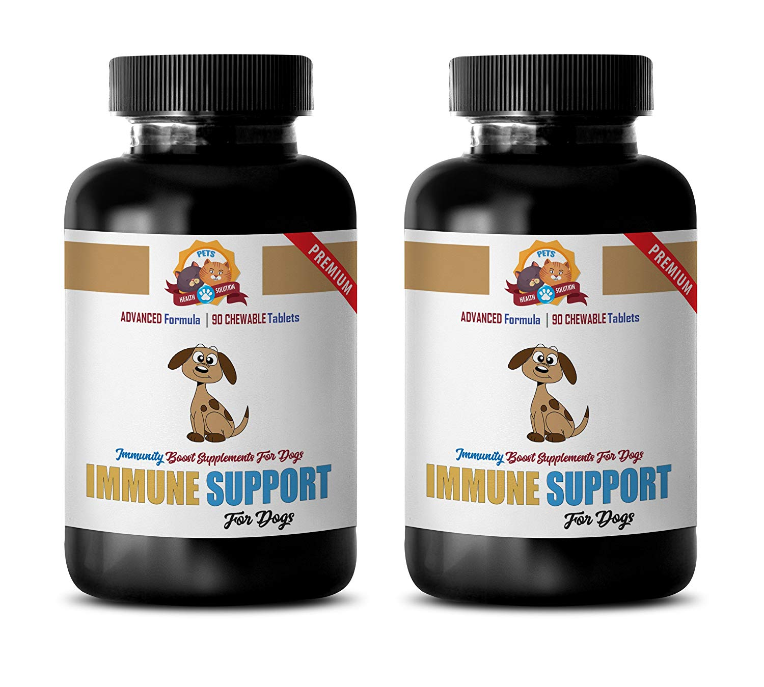 liver support for dogs - IMMUNE SUPPORT AND HEALTH - FOR DOGS TREATS - PREMIUM ADNVACED FORMULA - natural immune support for dogs - 180 Treats (2 Bottle)