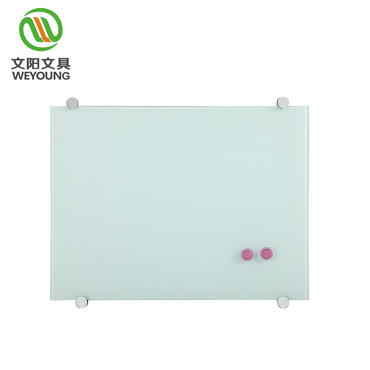 Non-glare Tempered Frameless Magnetic Whiteboard , Glass white Board