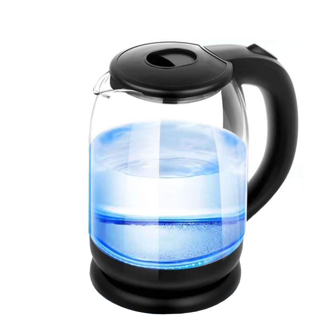 Glass Electric Kettles - ZHESHEN 1.8L Blue LED Illuminated Kettle Stainless Steel Kettle, Quick Boil With Auto Shut Off