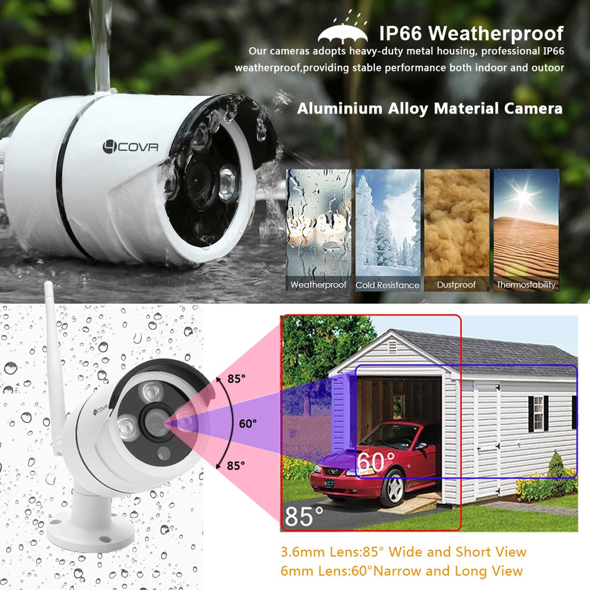 Forcovr Wireless Camera ONLY for Forcovr NVR Wireless Security Systems